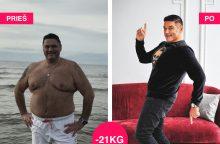 Televizijos veidas V. Cololo numetė daugiau nei 20 kg