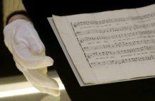 W. A. Mozarto rankraštis aukcione gali būti parduotas už pusę milijono eurų