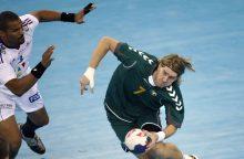 Puikus A. Malašinsko žaidimas Lietuvos rankininkų nuo pralaimėjimo neišgelbėjo