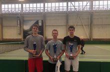 Šiauliuose paaiškėjo sezono pajėgiausi jaunieji tenisininkai