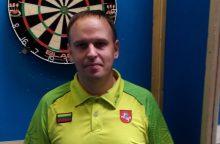 D. Labanauskas smiginio turnyre Anglijoje nugalėjo buvusį pasaulio vicečempioną