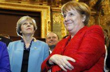 """Ateitis po """"Brexit"""": dėl ko nesutaria A. Merkel ir T. May?"""