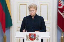 Metų kaunietę sveikina prezidentė D. Grybauskaitė