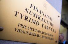 FNTT tiriamos kredito unijos be klientų žinios pervedinėjo pinigus