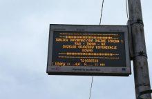 Kauno stotelių švieslentėse – lenkiški užrašai