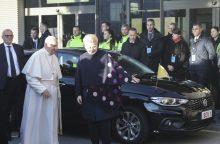 Į Estiją išvykstantis popiežius atsisveikino su Lietuva