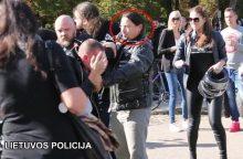 Policija ieško muštynėse dalyvavusio baikerio
