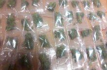 Šiauliečio automobilyje ir apatiniuose rūbuose – per 20 pakuočių su narkotikais