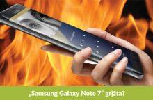 """Sprogimais pagarsėjęs """"Samsung Galaxy Note 7"""" grįžta?"""