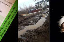 Tragiškos būklės gatvė varo į neviltį: kauniečių nepasiekia ir rinkėjo kortelės