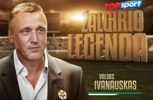 """Futbolo legenda V. Ivanauskas jausmingai prisiminė """"Žalgiryje"""" praleistus metus"""