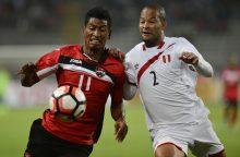 Peru futbolo rinktinės pergalė kontrolinėse rungtynėse