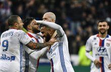 """Prancūzijoje """"Lyon"""" ir PSG surengė įvarčių fiestas"""