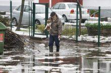 Gausus lietus uostamiestyje rimtesnių problemų nesukėlė