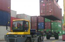 """""""Klaipėdos konteinerių terminale"""" – pagyvėjimas ir naujos viltys"""