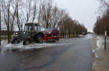 Atnaujintas eismas kelyje Šilutė – Rusnė