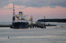 SGD iš Klaipėdos pradedamos gabenti dujovežiais