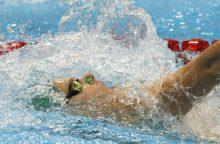 D. Rapšys pasiekė rekordą ir pateko į 200 m plaukimo rungties pusfinalį