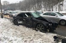 Kaune susidūrė penki automobiliai <span style=color:red;>(jauna vairuotoja nesuvaldė BMW?)</span>
