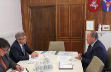 Seimo pirmininkas ir meras aptarė Kauno rajono problemas
