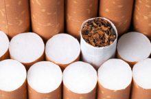 JAV maisto ir vaistų administracija nori mažinti nikotino kiekį cigaretėse