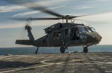 JAV į Latviją atgabens penkis karinius sraigtasparnius