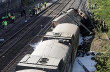 Ispanijoje nuo bėgių nulėkus traukiniui žuvo mažiausiai vienas žmogus