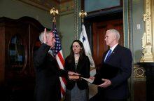 JAV gynybos sekretoriumi prisaikdintas J. Mattisas