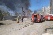 Milžiniškas gaisras Rusijoje: liepsnoja daugiau kaip 10 namų