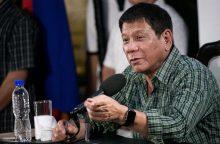 Naujasis Filipinų prezidentas pasisako už korumpuotų žurnalistų žudymą