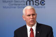 JAV viceprezidentas susitiks su ES ir NATO lyderiais
