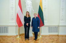 Prezidentė priėmė Austrijos ambasadorės skiriamuosius raštus