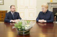 Premjeras prezidentei įvardijo kandidatus į ministrus