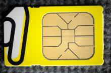 Vyriausybė pritarė siūlymui registruoti išankstinio mokėjimo SIM korteles