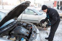 Paspaudus šaltukui – rūpesčiai vairuotojams