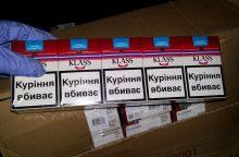 Konfiskuota 12,8 tūkst. pakelių nelegalių ukrainietiškų rūkalų
