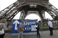 Eifelio bokštas dėl streiko vėl uždarytas turistams