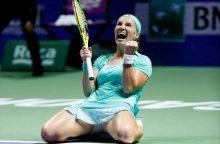 """S. Kuznecova pirmą kartą karjeroje iškovojo vietą """"WTA Finals"""" pusfinalyje"""