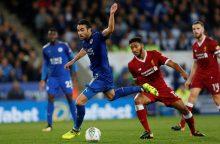 """""""Liverpool"""" ištrenktas iš Anglijos lygos taurės turnyro"""