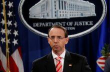JAV generalinio prokuroro pavaduotojas R. Rosensteinas traukiasi iš pareigų
