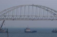 Rusija sutinka, kad Vokietija ir Prancūzija kontroliuotų laivybą Kerčės sąsiauryje
