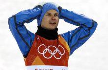 Pirmąjį medalį Ukrainai Pjongčange pelnė akrobatinio slidinėjimo atstovas O.Abramenka