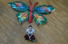 Kauno apskrities viešojoje bibliotekoje – įspūdingas literatūrinis drugelis