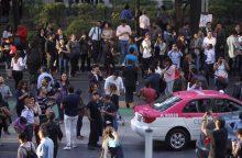 Meksiką supurtęs stiprus žemės drebėjimas sukėlė paniką