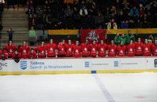Lietuvos 20-mečių ledo ritulio rinktinė po baudinių serijos pralaimėjo estams