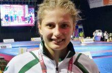 Imtynininkei K. Gaučaitei – Europos jaunių čempionato bronza