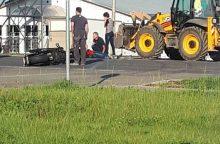 Per automobilio ir motociklo avariją sužalotas motociklo vairuotojas