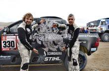 Septintajame Dakaro ralio etape trys lietuvių ekipažai – tarp 23 greičiausių