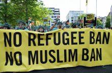 Briuselyje keli tūkstančiai žmonių protestavo prieš D. Trumpo vizitą