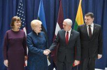 JAV patvirtino įsipareigojimą Baltijos šalių saugumui